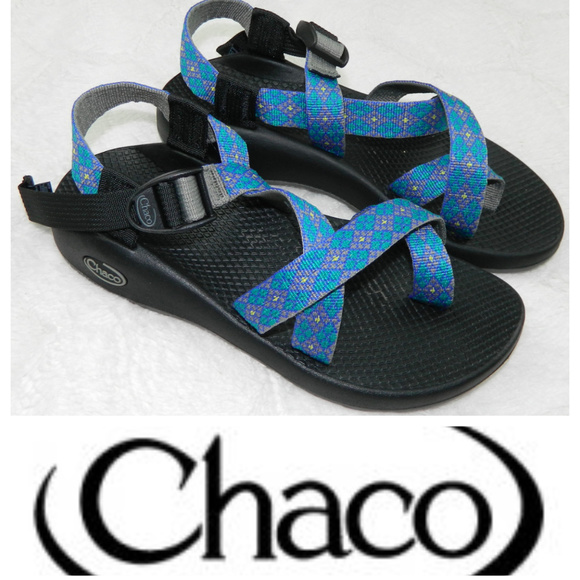 CHACO Z2 Yampa SANDALS Sz. 7 BLUE BLACK Chacos